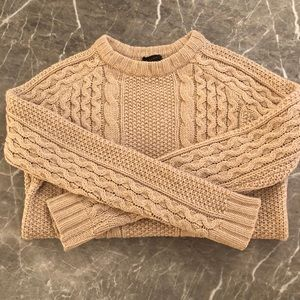 Theory Alpaca blend Innis Aria Cable Knit Sweater